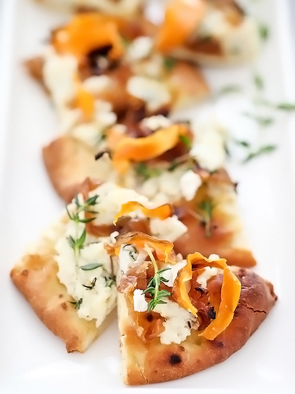 Sweet Potato and Caramelized Onion Pizza | foodiecrush.com