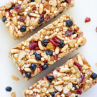 Almond Butter Power Bars | foodiecrush.com