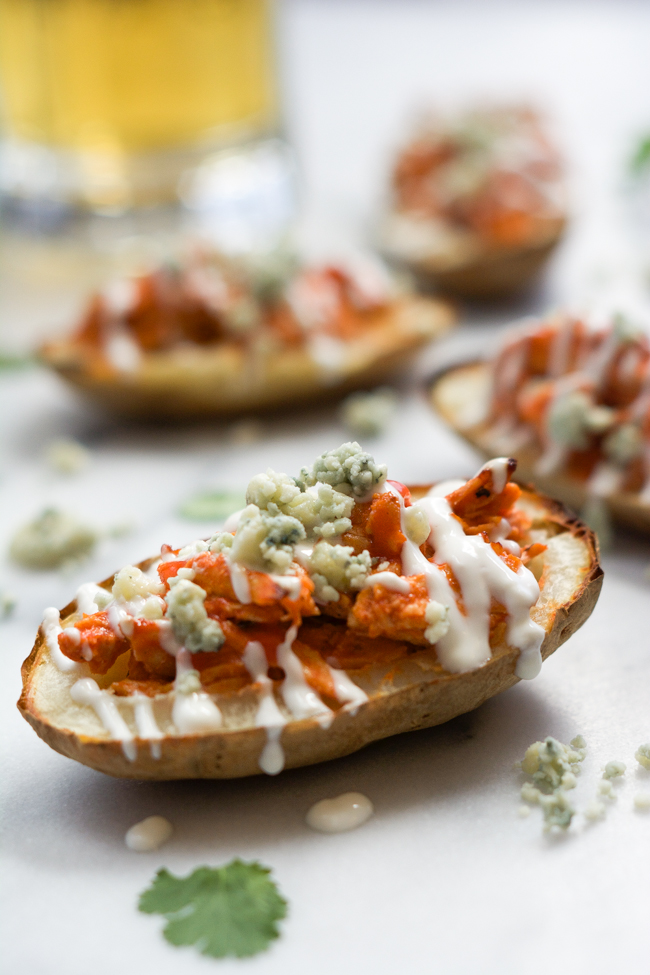 Buffalo-Chicken-Stuffed-Potato-Skins-with-Honey-Blue-Cheese-Sauce-5