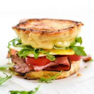 Ham and Smoked Gouda Grilled Cheese Breakfast Sandwich