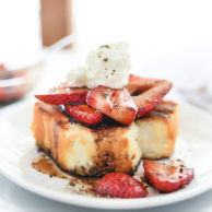 Grilled Strawberry Shortcakes with Balsamic Vinegar | foodiecrush.com