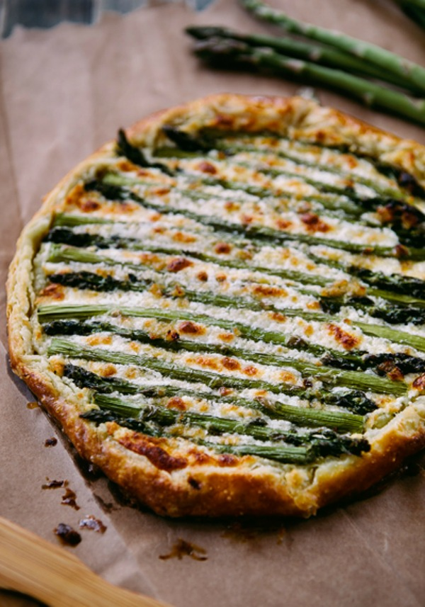Asparagus Goat Cheese Galette from simplebites.net on foodiecrush.com