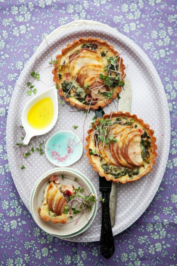 goat cheese honeyed fig and goat cheese tart swiss chard leek and goat ...