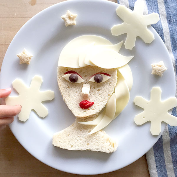 Elsa as food art by Marie Saba on foodiecrush.com