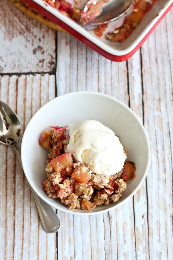 Rhubarb Apple Crisp cookincanuck.com | foodiecrush.com