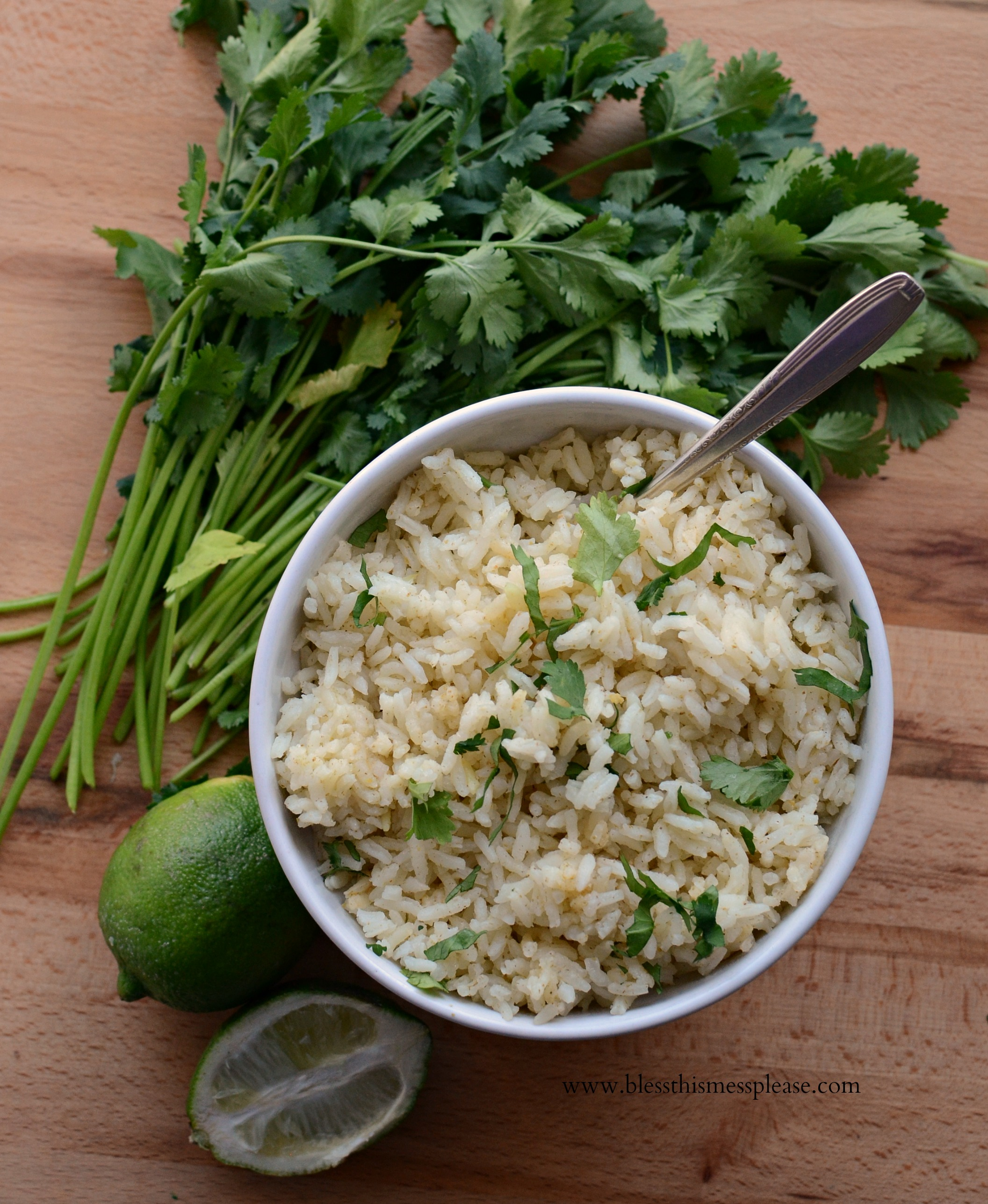 Santa fe rice with cilantro and garlic
