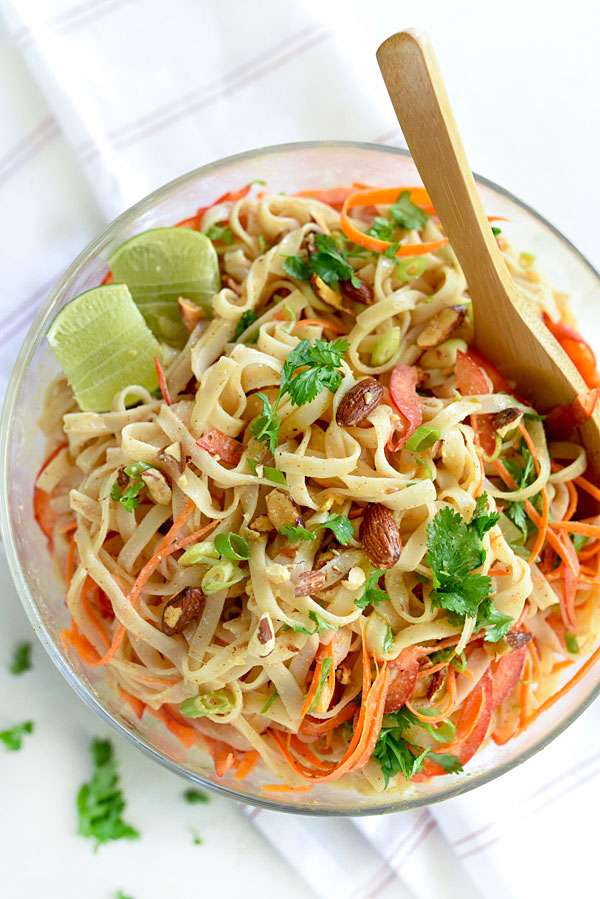 Thai Coconut Noodle Salad | foodiecrush.com