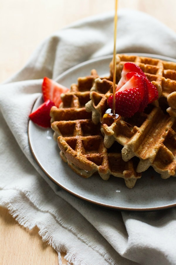 Basic Buckwheat Waffles from edibleperspective.com on foodiecrush.com