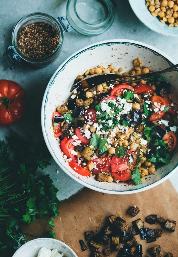 Chickpea Za'atar Salad from greenkitchenstories.com on foodiecrush.com