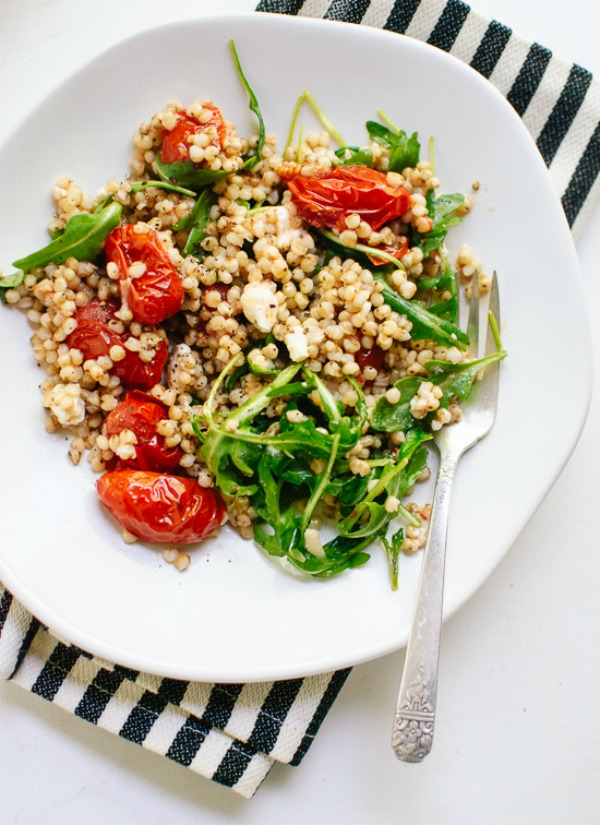 Roasted Cherry Tomato, Arugula and Sorghum Salad from cookieandkate.com on foodiecrush.com