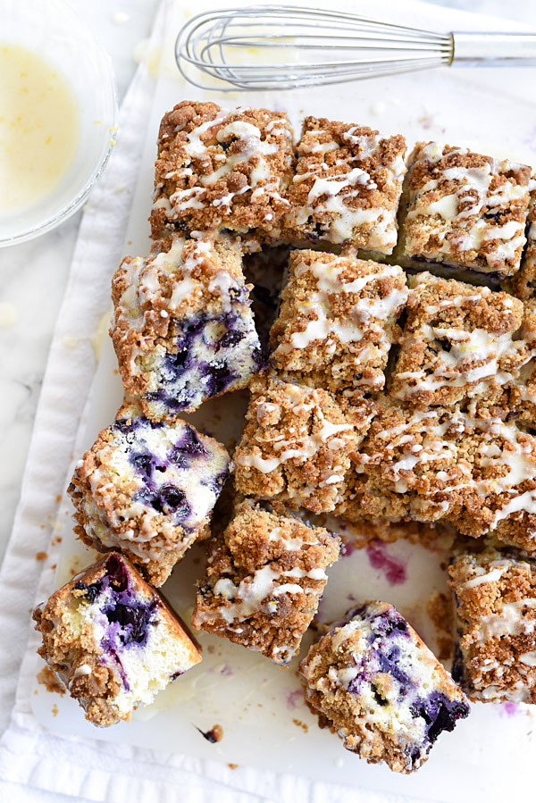Blueberry Buckle with Lemon Glaze takes the cake for breakfast or ...