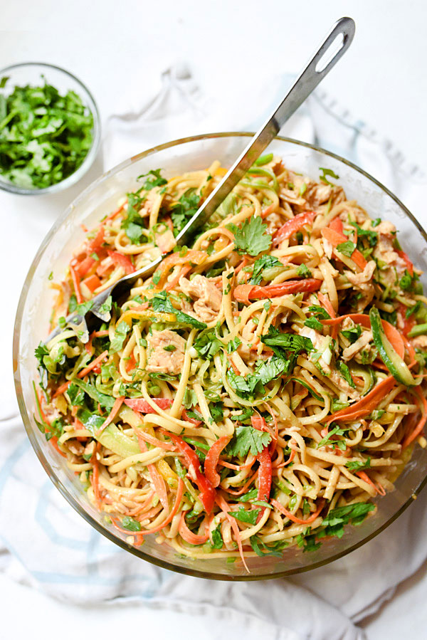 Peanut Noodles With Chicken foodiecrush.com 13