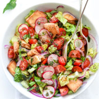 The Best Fattoush Salad | foodiecrush.com