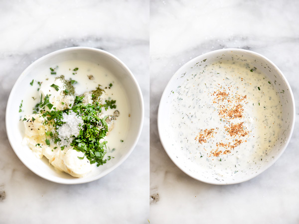 Homemade Ranch Dressing Recipe | foodiecrush.com
