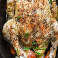 Slow Cooker Whole Chicken | foodiecrush.com