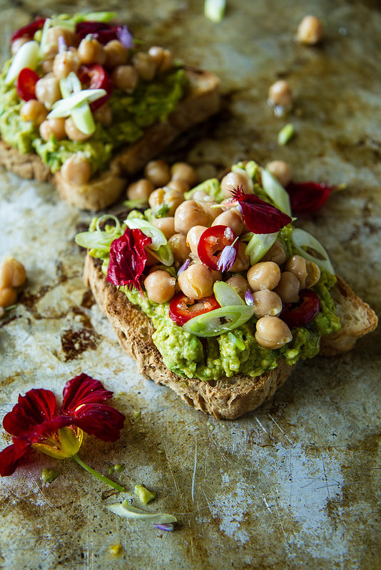 Curried Chickpea Toast from Heather Christo | foodiecrush.com