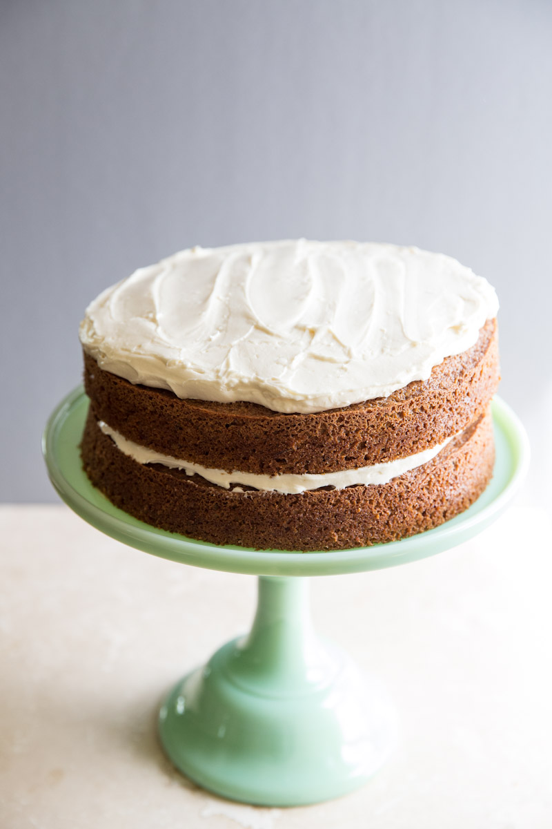 Classic Carrot Cake by Vintage Mixer | foodiecrush..com
