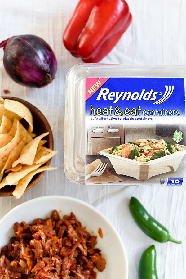 These heat and eat containers are recyclable and go straight into the microwave. Great for leftovers for lunch  foodiecrush.com