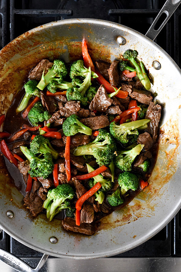 Beef with Broccoli is an easy dinner and makes a healthy family meal   foodiecrush.com