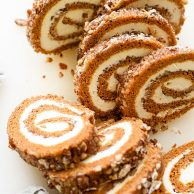 My Favorite Pumpkin Roll Recipe on foodiecrush.com