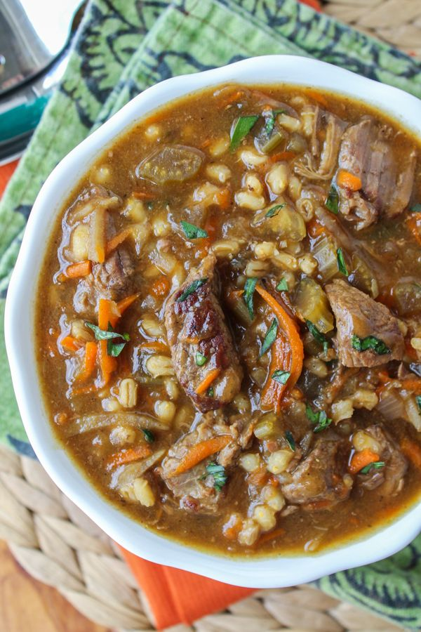 with ground beef comforting ground beef and barley soup recipe yummly ...