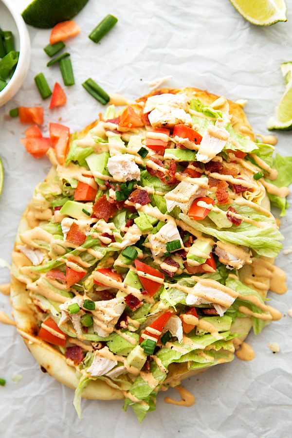Turkey Avocado Flatbread from Chelsea's Messy Kitchen on foodiecrush.com