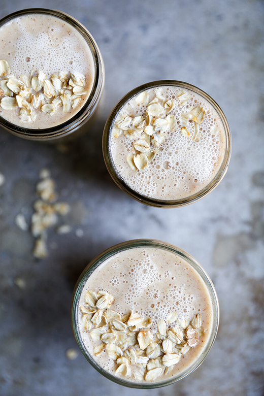 Oatmeal and Citrus Smoothie from Floating Kitchen on foodiecrush.com