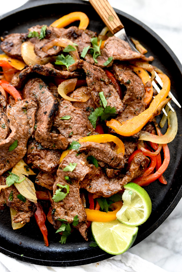 The Best Steak Fajitas | foodiecrush.com