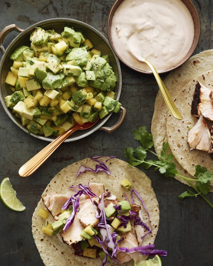 Chipotle Salmon Tacos from What's Gaby Cookin' on foodiecrush.com