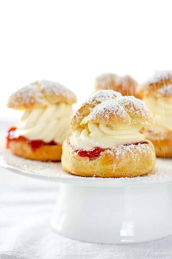 fuji cream puffs candy cane cream puffs strawberry cream puffs ...