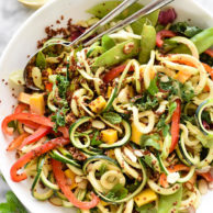 Thai Zucchini Noodle and Quinoa Salad | foodiecrush.com
