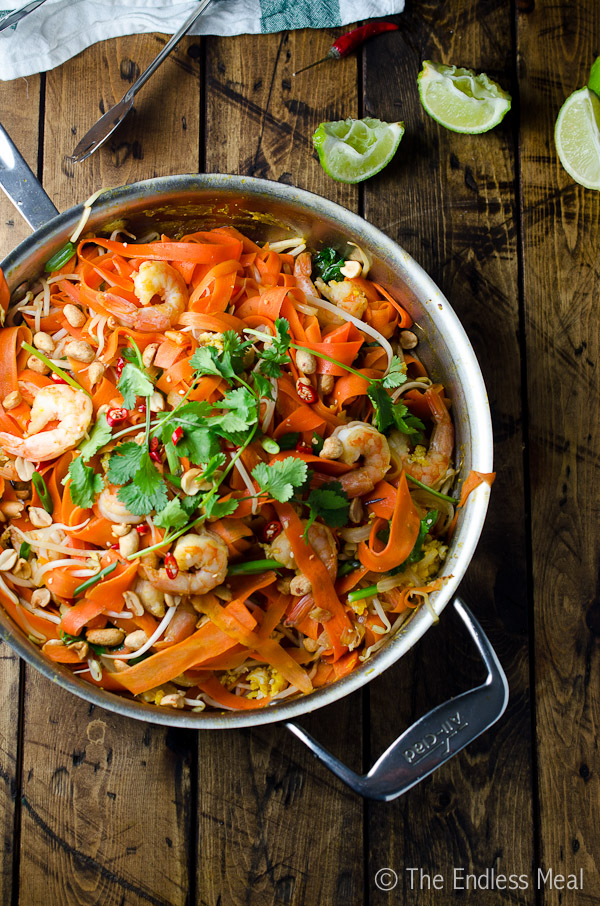 Carrot Noodle Pad Thai from theendlessmeal.com on foodiecrush.com