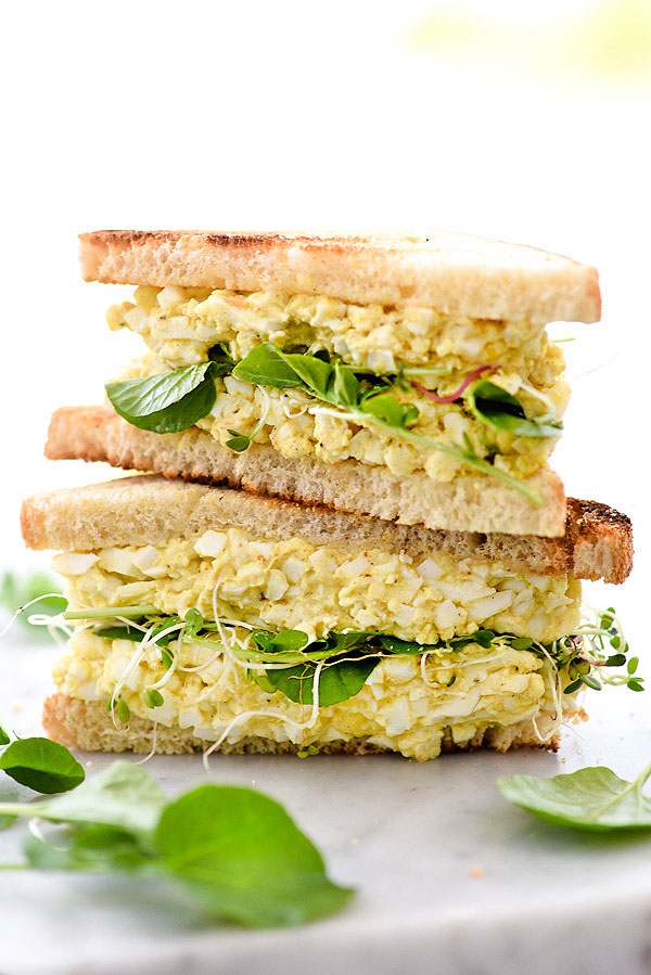Curried Egg Salad Sandwich Recipe | foodiecrush.com