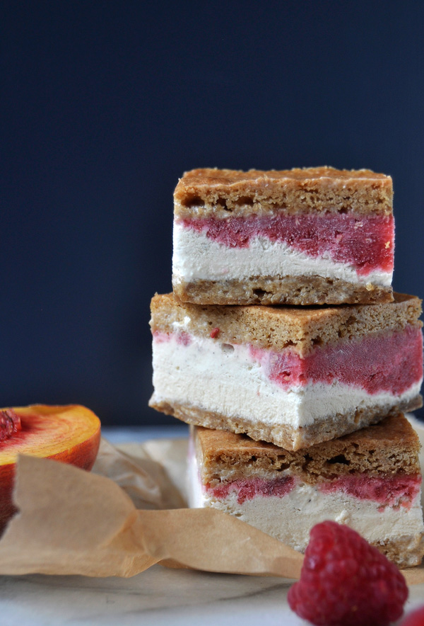Honey Vanilla Ice Cream Sandwiches from Lara Treyvey | foodiecrush.com