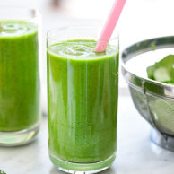 Immune Booster Sweet Green Smoothie | foodiecrush.com