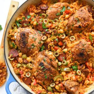 Spanish Chicken and Rice | foodiecrush.com