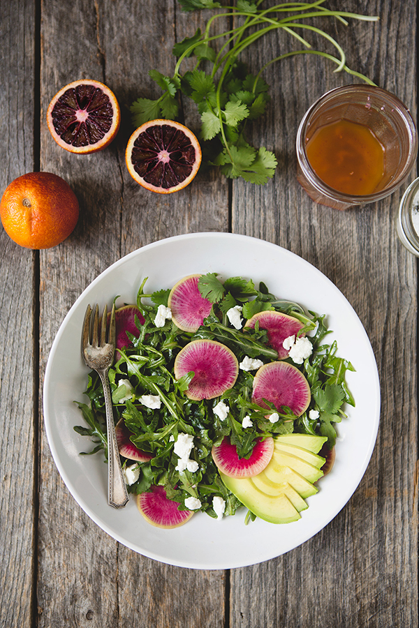 watermelon-radish-arugula-salad-citrus-vinaigrette-recipe-foodformyfamily