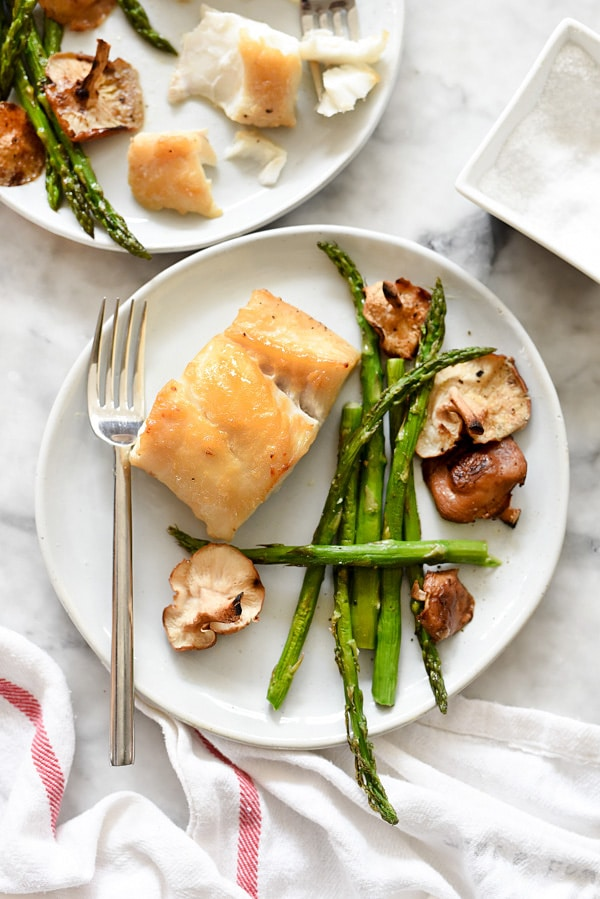 Broiled Miso Cod with Vegetables   foodiecrush.com #recipes #healthy #fish #oven #dinners