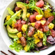 Ahi Tuna Poke and Mango Salad