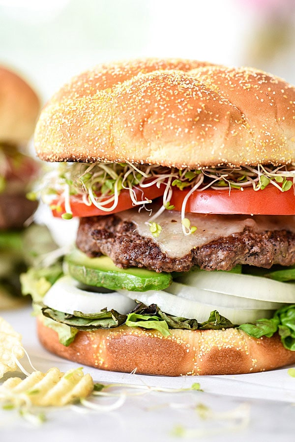 California-Style Bison Burgers | #recipe #seasoning #healthy #dinners #grilled foodicrush.com