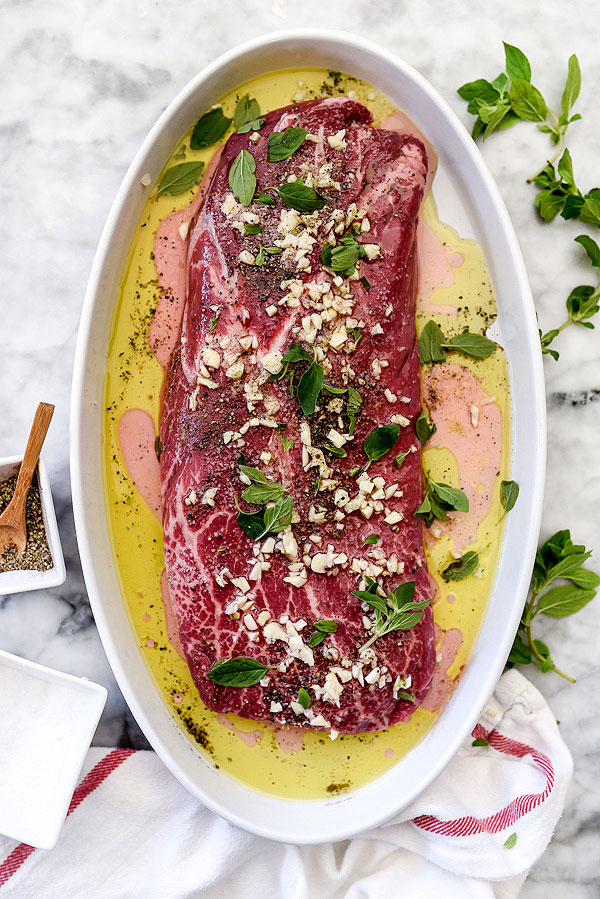 Grilled Skirt Steak with Chimichurri | foodiecrush.com