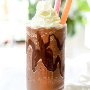 How to Make an Ice Blended Mocha | foodiecrush.com