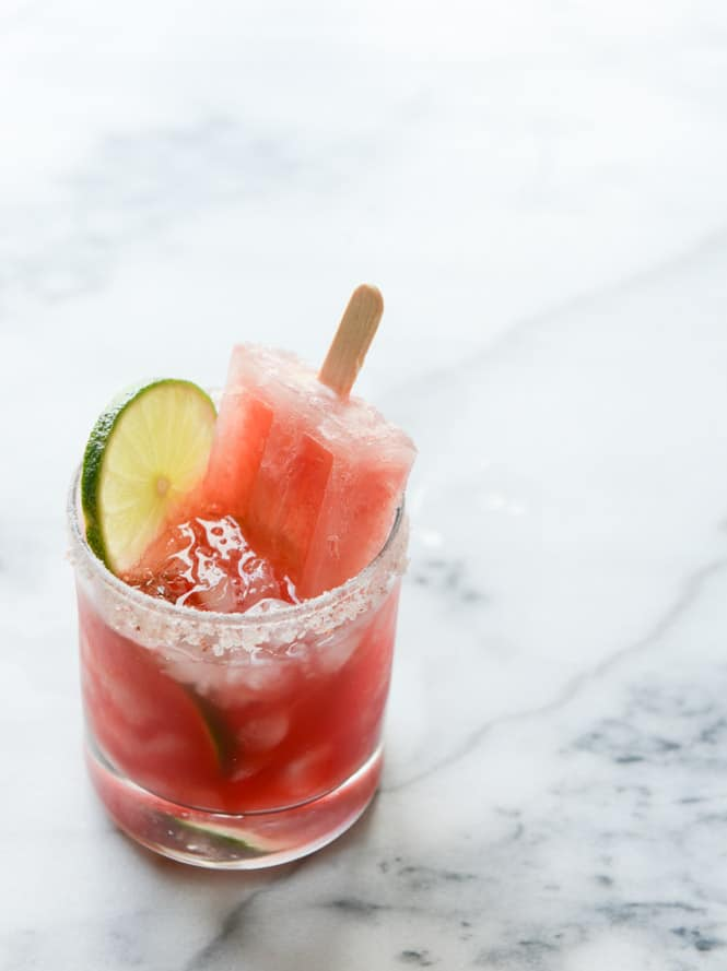Salted Watermelon Margarita Popsicles from howsweeteats.com on ...