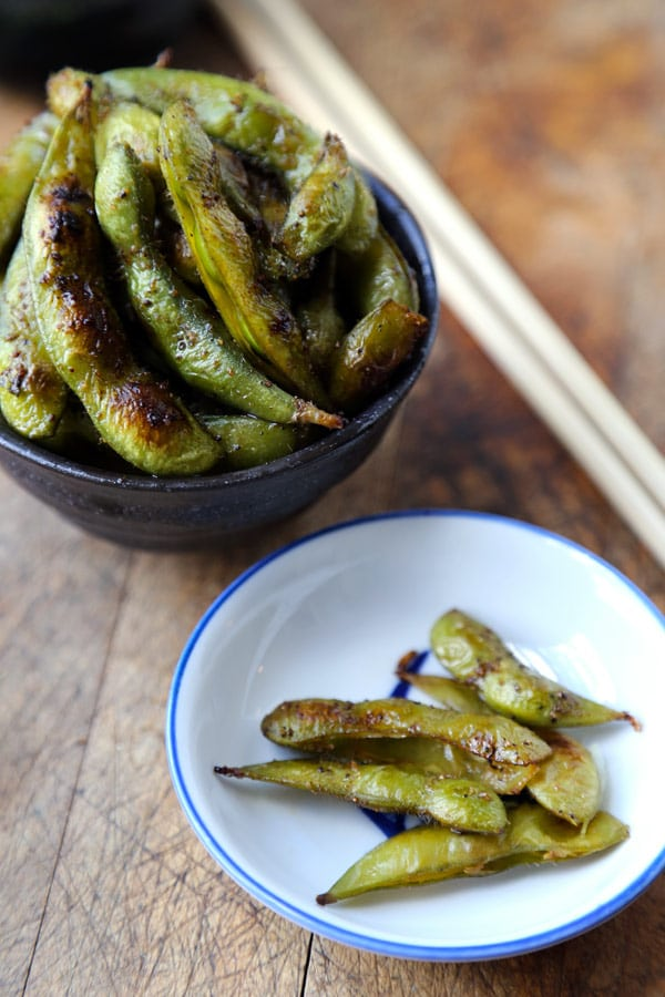Soy and Sesame Edamame from pickledplum.com on foodiecrush.com