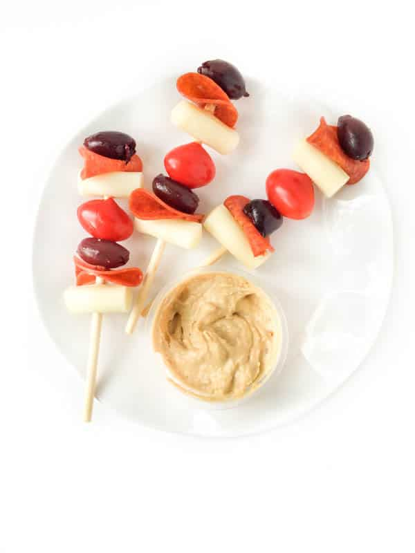 5-Ingredient Pizza Skewers from thelemonbowl.com on foodiecrush.com