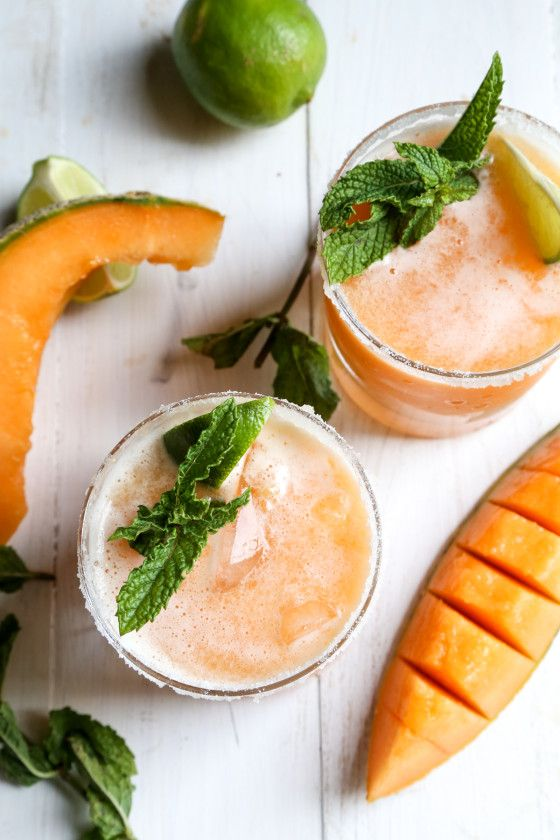 Cantaloupe Margaritas from countrycleaver.com on foodiecrush.com