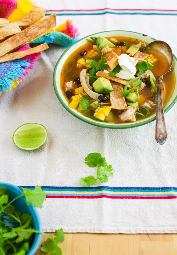 Harvest Tortilla Soup from Simple Bites on foodiecrush.com