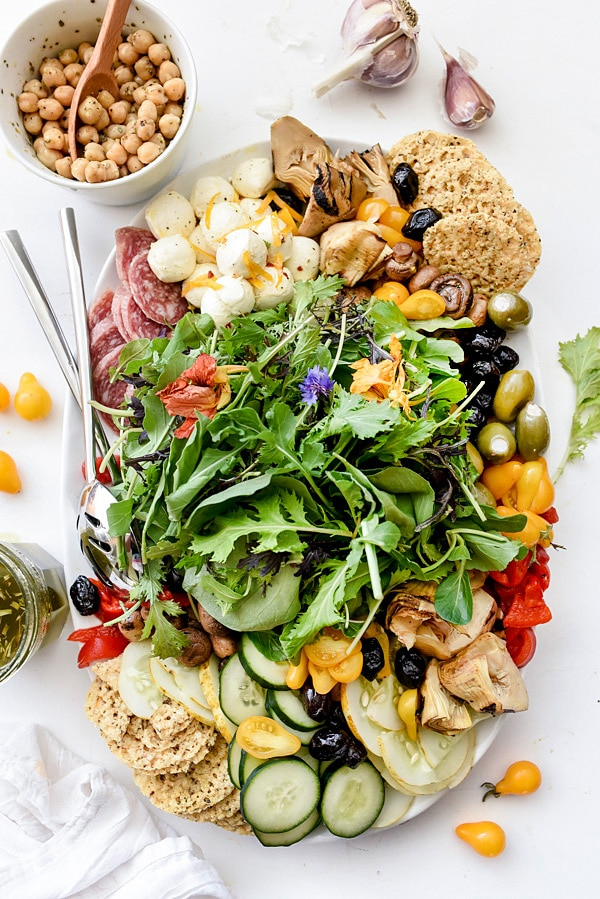 Italian-Inspired Salad Plate | foodiecrush.com