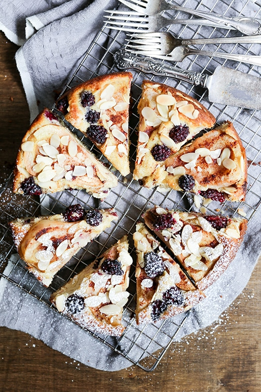 Pear and Blackberry Almond Cake from Floating Kitchen on foodiecrush.com