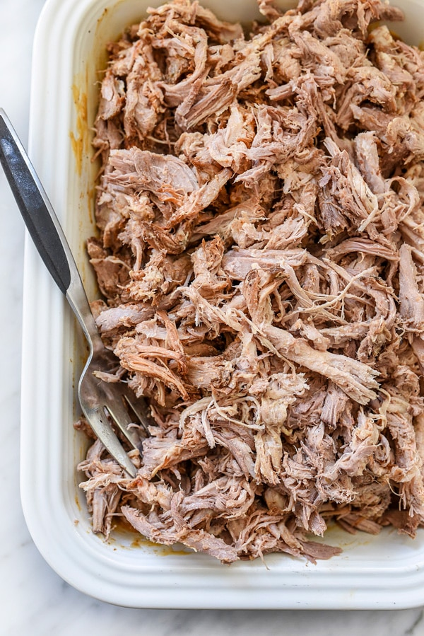 Slow Cooker Smoky Pulled Pork | foodiecrush.com